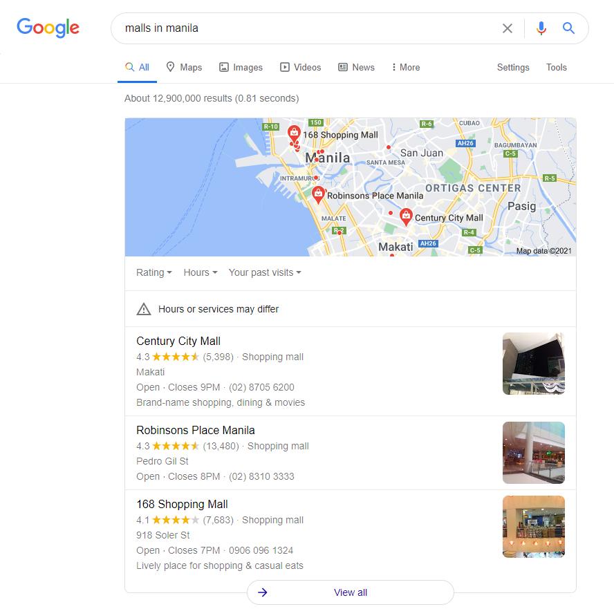 exemple de pack de cartes google